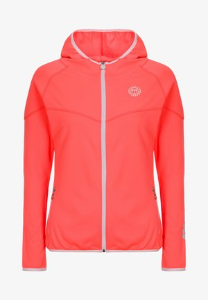 GRACE  - Training jacket - coral / white