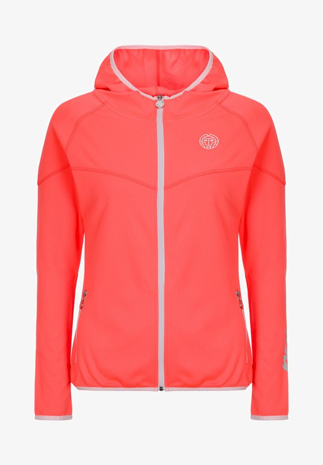 GRACE  - Trainingsvest - coral / white