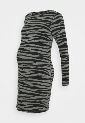 DRESS ZEBRA - Sukienka z dżerseju - black