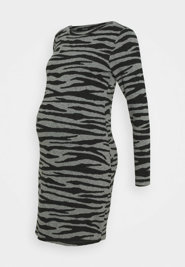DRESS ZEBRA - Jerseyklänning - black