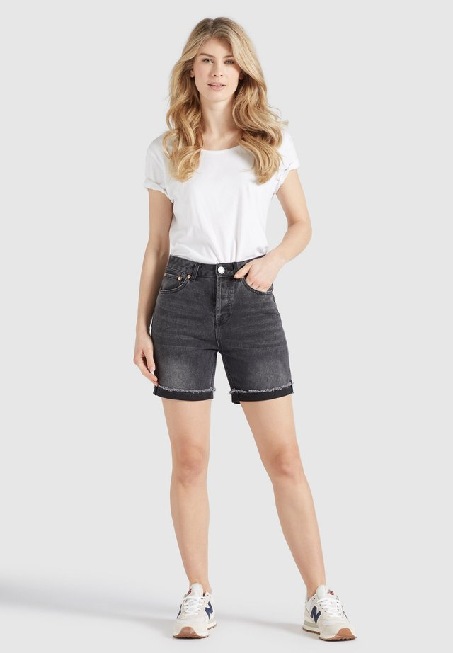 ROSANNA - Shorts di jeans - schwarz gewaschen
