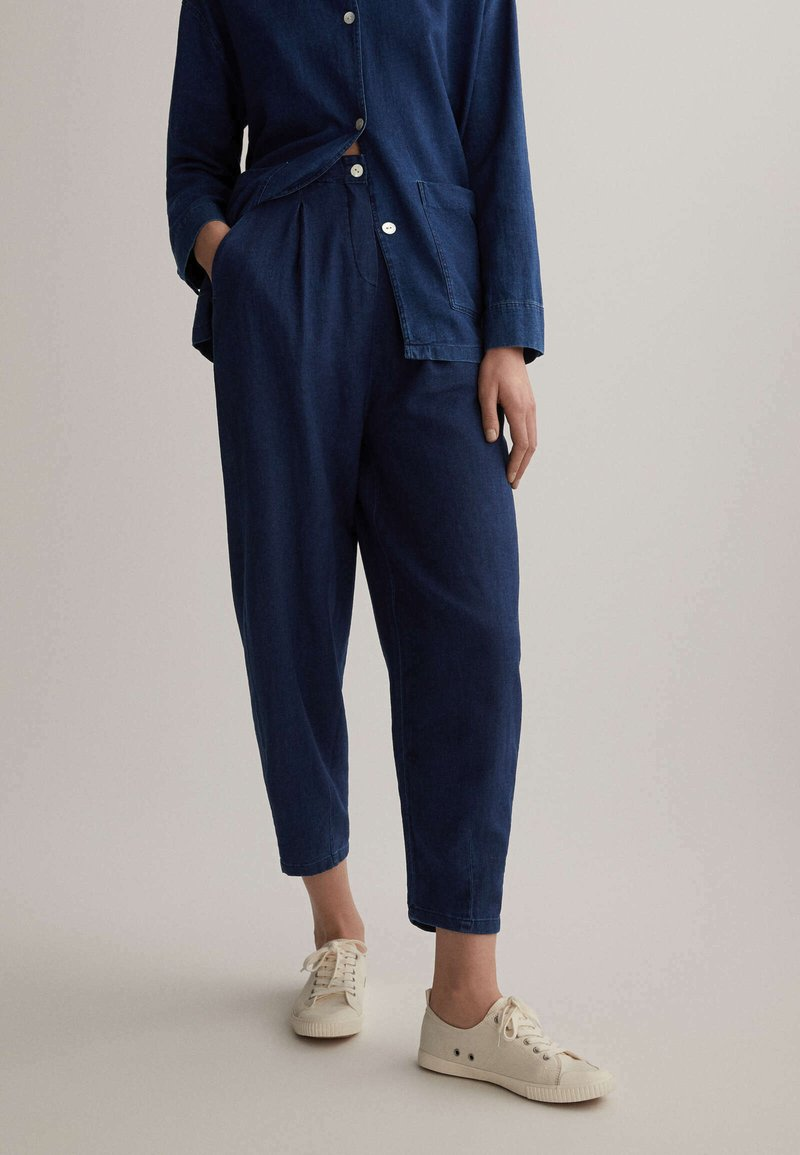 OYSHO - Trousers - blue