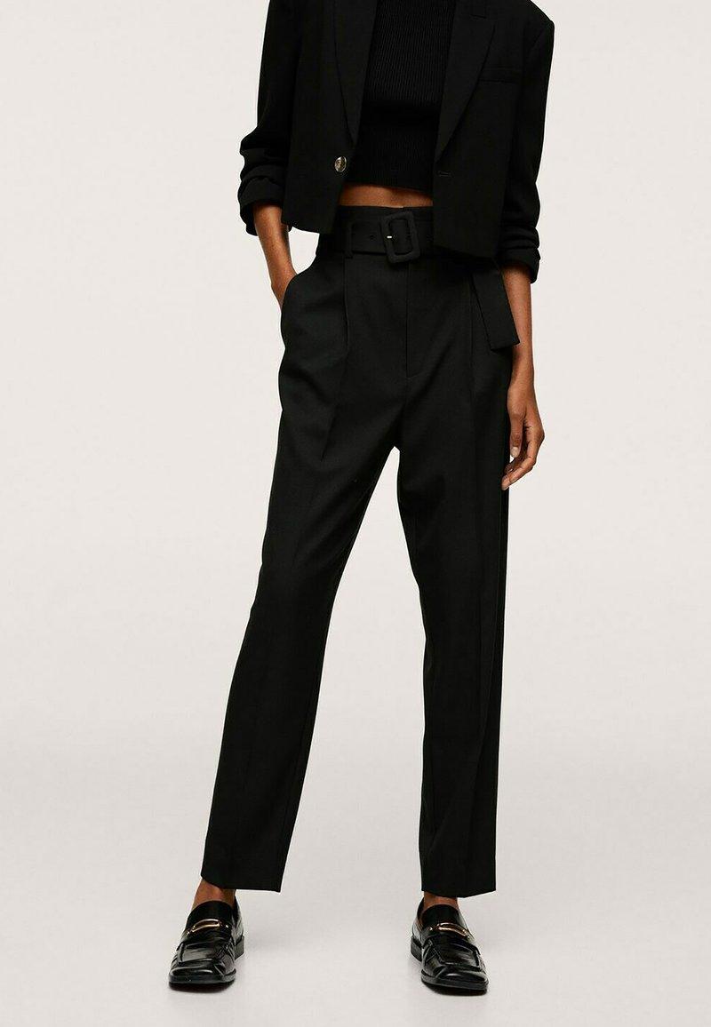 Mango - STRAIGHT-FIT - Chino kalhoty - black