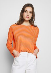 Marc O'Polo DENIM - Top s dlouhým rukávem - multi/flash orange - 0