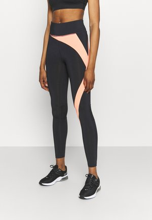 ONPMALIA TRAIN TIGHTS - Leggings - blue graphite/neon orange