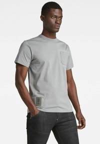 G-Star - STITCH DETAIL POCKET - T-shirt con stampa - charcoal - 3
