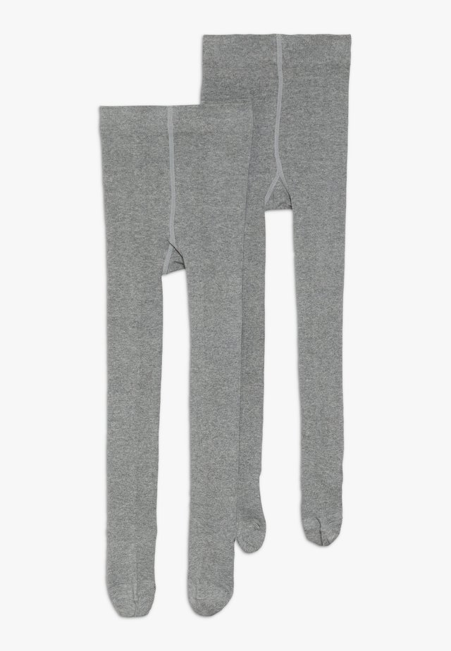 ONLINE JUNIOR BASIC UNISEX 2 PACK - Tights - grey