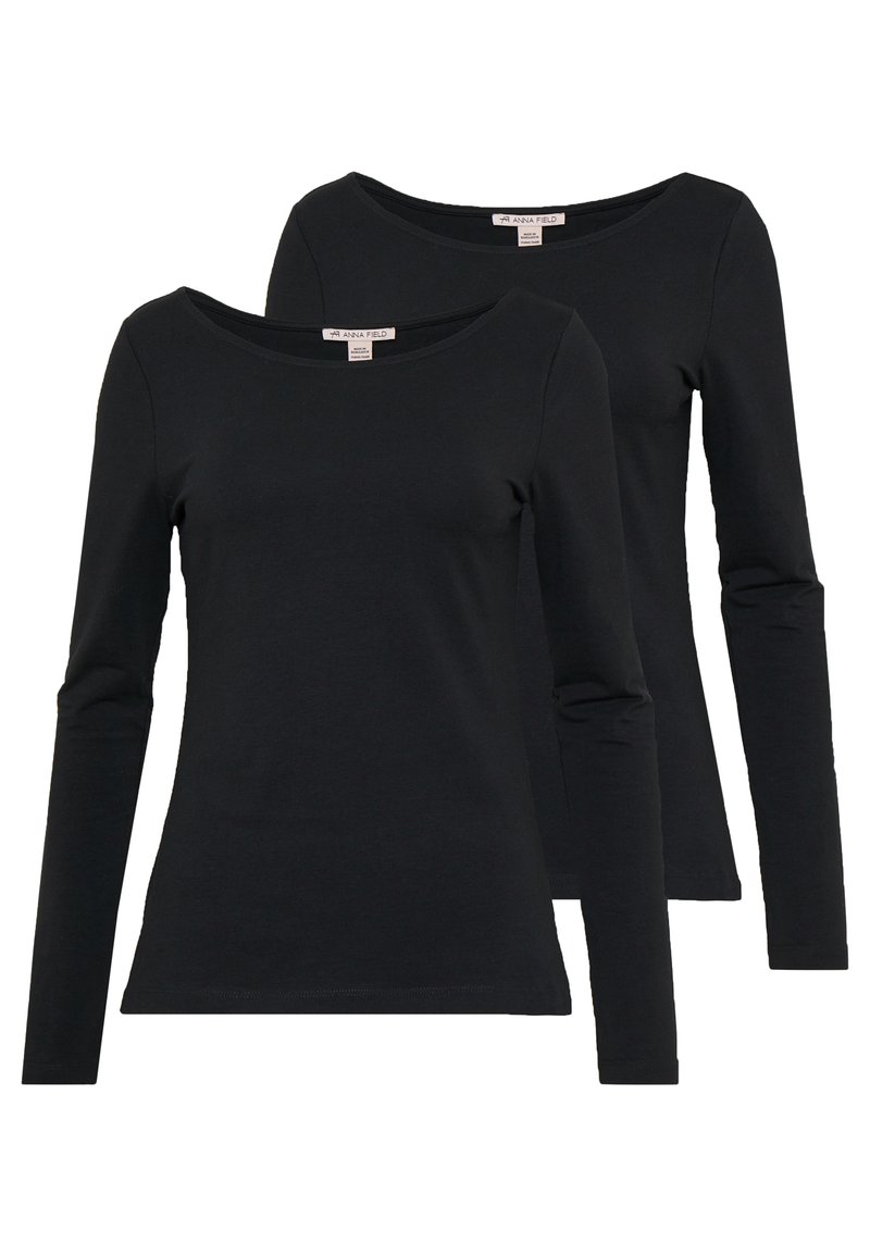 Anna Field - 2 PACK - Langærmede T-shirts - black