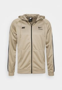 Nike Sportswear - HOODIE - Training jacket - khaki/black/white - 5