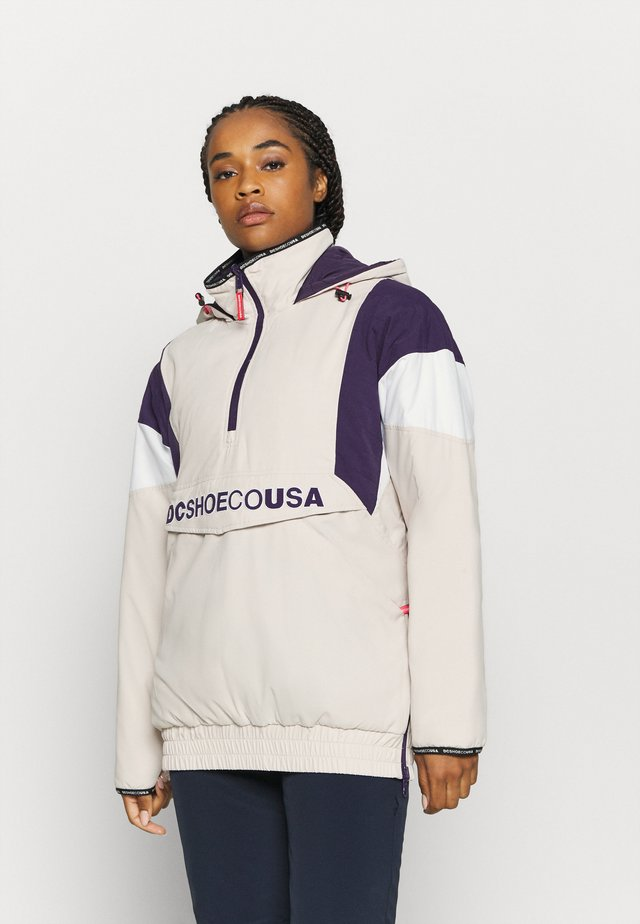 TRANSITION WMNS REVERSIBLE ANORAK - Snowboardjas - gray_morn