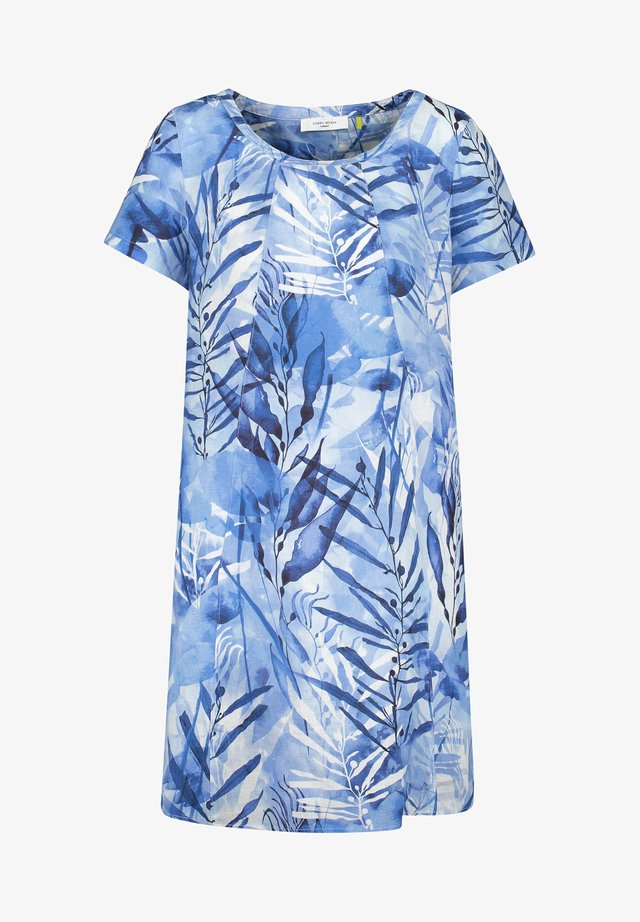 Korte jurk - blau druck
