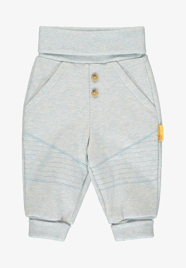 MIT GROSSEN TASCHEN - Tracksuit bottoms - steiff baby blue