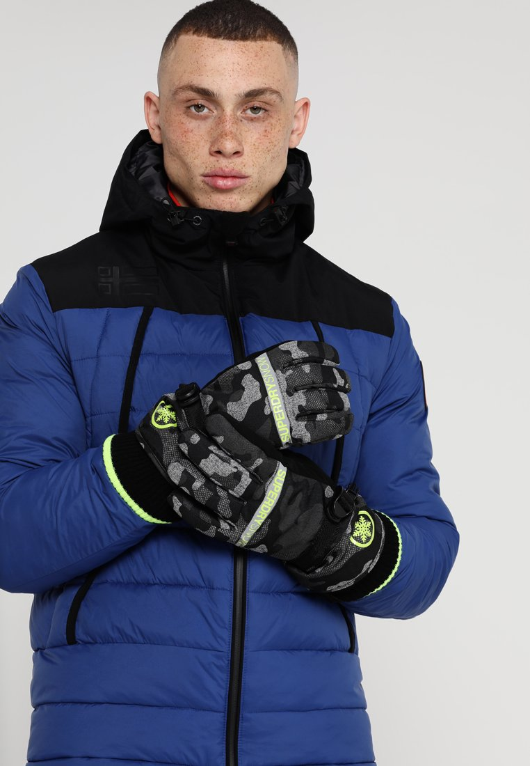 Superdry - Gloves - contrast camo/rescue yellow