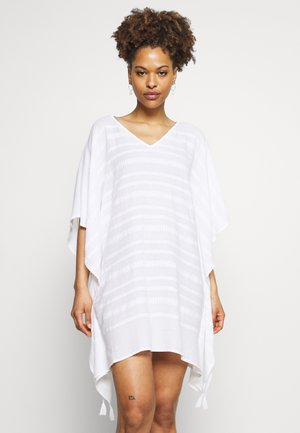 BEACH EDIT GEO JACQUARD KAFTAN - Beach accessory - white