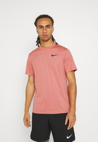 Nike Performance - DRY  - T-Shirt basic - canyon rust/rust pink/black - 0