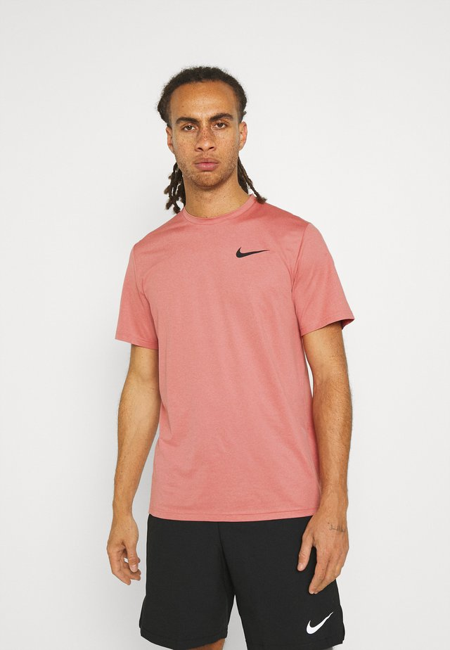 Basic T-shirt - canyon rust/rust pink/black