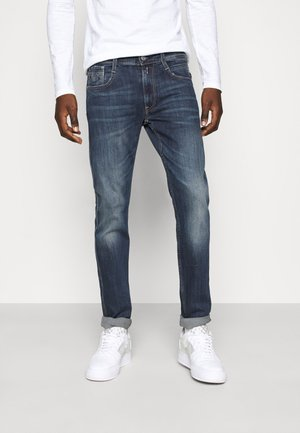 ANBASS - Jean slim - medium blue