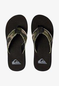 Quiksilver - MONKEY ABYSS YT  - T-bar sandals - green/green/black - 1