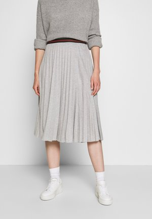 A-line skirt - light grey melange