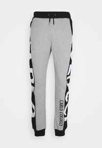 Carlo Colucci - SIDE TAPE LOGO - Tracksuit bottoms - black/grey - 0
