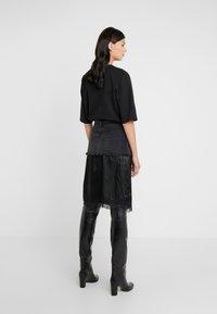 MM6 Maison Margiela - Áčková sukně - black - 2