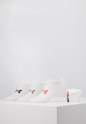 WOMENS ESSENTIAL 6 PACK - Sports socks - white / white / watermelon