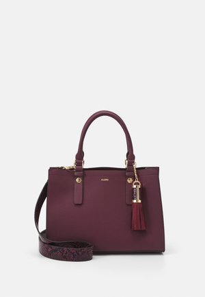 MIX MAT - Handbag - bordo