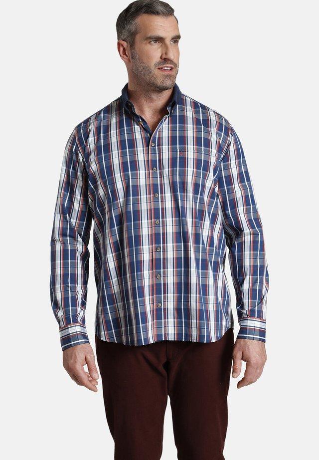 DUKE ROBERT - Overhemd - blau kariert