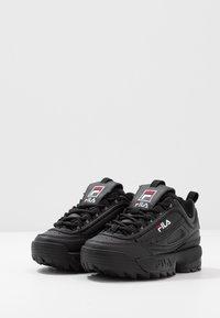 Fila - DISRUPTOR KIDS - Sneakers laag - black - 3