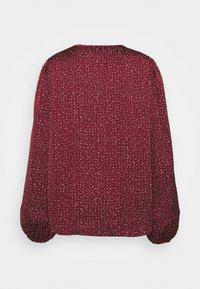 Gap Tall - SPLIT BLOUSON  - Blouse - burgundy print - 1