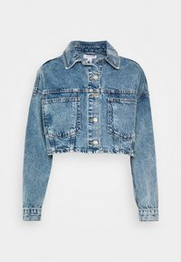 Topshop - ACID CROP JACKET - Denim jacket - bleach stone - 3