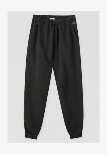 Träningsbyxor - mottled dark grey