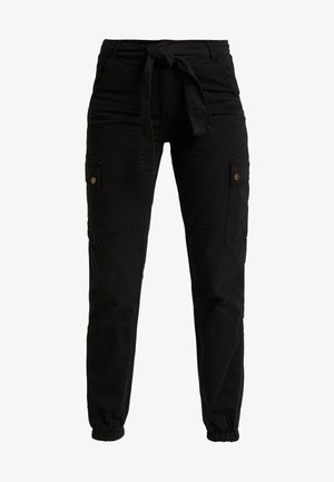 SAN FRAN SELF BELT JOGGER - Pantalon classique - black