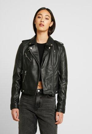 VMLARA SHORT JACKET - Leather jacket - black