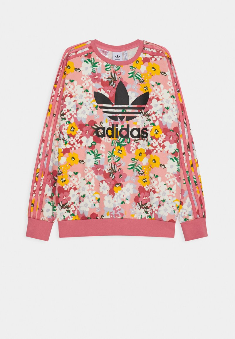 adidas Originals - FLORAL TREFOIL CREW JUMPER - Sweater - trace pink/multicolor/black