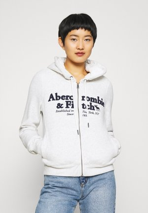 FULL ZIP - Zip-up hoodie - grey heather