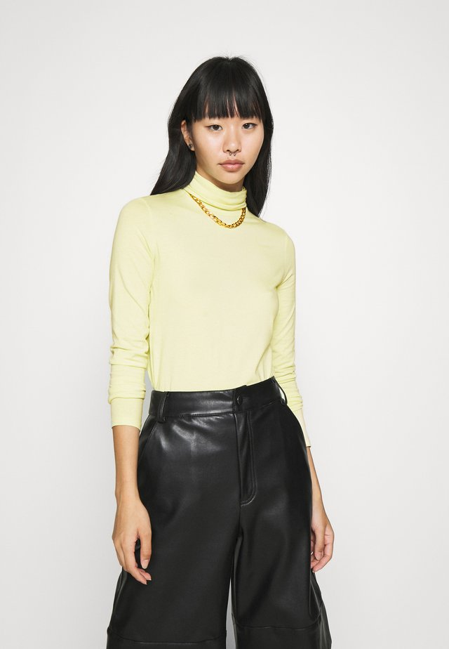 CHIE TURTLENECK - Long sleeved top - sage green