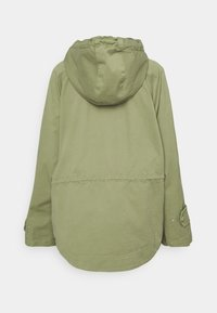 Marc O'Polo - CAPE FIX HOOD - Short coat - dried sage