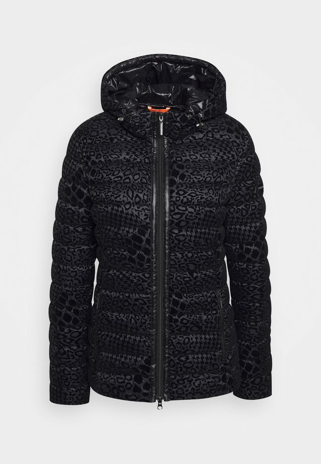STEPPJACKE MOVIE IM LEO-LOOK - Lehká bunda - black