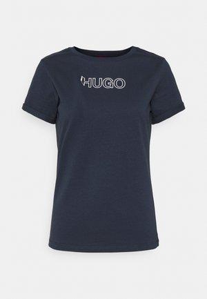 THE SLIM TEE - Print T-shirt - open blue