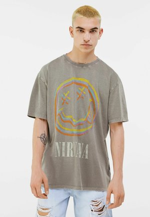 T-shirt con stampa - grey