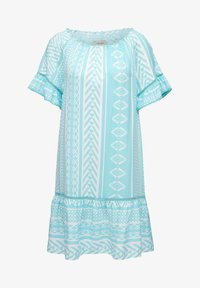 Triangle - Day dress - turquoise aop - 0