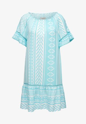 Day dress - turquoise aop
