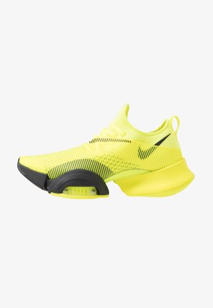AIR ZOOM SUPERREP UNISEX - Sports shoes - lemon/black/white