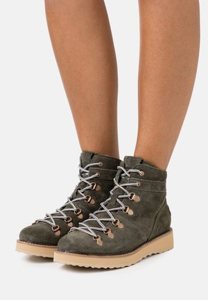 SPENCIR - Bottines à lacets - olive