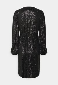 Milly - SIENA MINI SEQUINS WRAP DRESS - Robe de soirée - black - 1