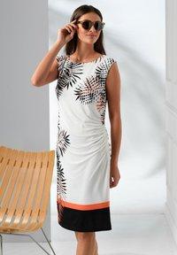 Alba Moda - Jersey dress - off-white schwarz orange - 4