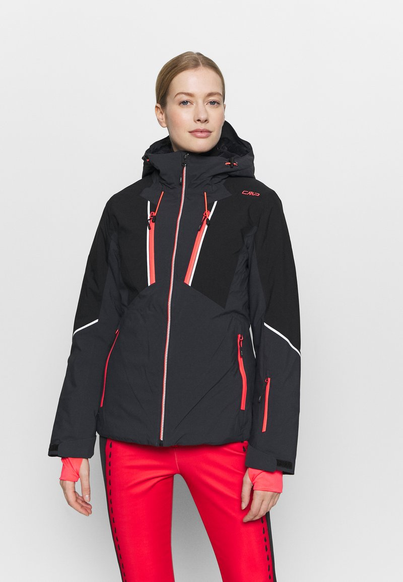 CMP - WOMAN JACKET FIX HOOD - Skijakke - antracite