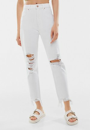 Jeansy Relaxed Fit - white