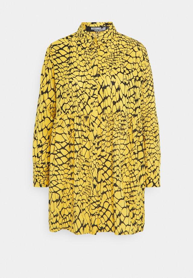 BUTTON THROUGH SHIRT SMOCK DRESS - Vestido informal - yellow